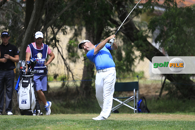 Damien McGrane (IRL) on the 7th tee during Round 3 of the ISPS HANDA Perth International at the Lake Karrinyup Country Club on Saturday 25th October 2014.<br /> Picture:  Thos Caffrey / www.golffile.ie