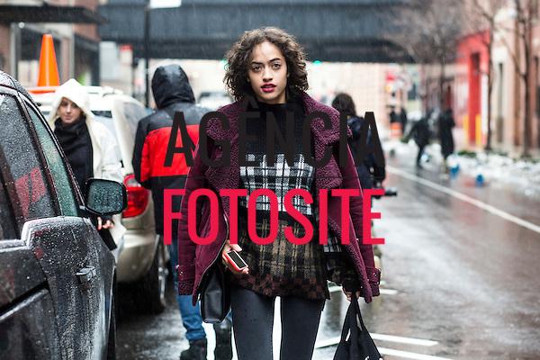 Street Style<br /> <br /> New York - Inverno 2017<br /> <br /> Fevereiro 2017<br /> <br /> foto: FOTOSITE