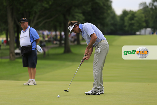 Gonzalo Fernandez-Castano (ESP) putts on the 13th green during Friday's Round 1 of the 2013 Bridgestone Invitational WGC tournament held at the Firestone Country Club, Akron, Ohio. 2nd August 2013.<br /> Picture: Eoin Clarke www.golffile.ie