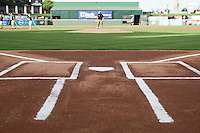 Batters box at the Dell Diamond in Round Rock, Texas. (Andrew Woolley/Four Seam Images)