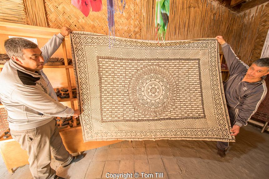 Block printing with New Natural Dye, Said Ahmad Hofja Medrese, Fergana, Uzbekistan.