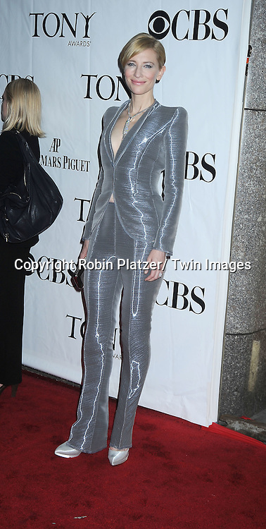 Cate Blanchett arriving at The 61st Annual Tony Awards on June 13, 2010 at Radio City Music Hall in New York City.