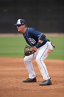 San Diego Padres first baseman Blake Hunt (12) during a Minor League Spring Training game against the Seattle Mariners at Peoria Sports Complex on March 24, 2018 in Peoria, Arizona. (Zachary Lucy/Four Seam Images)