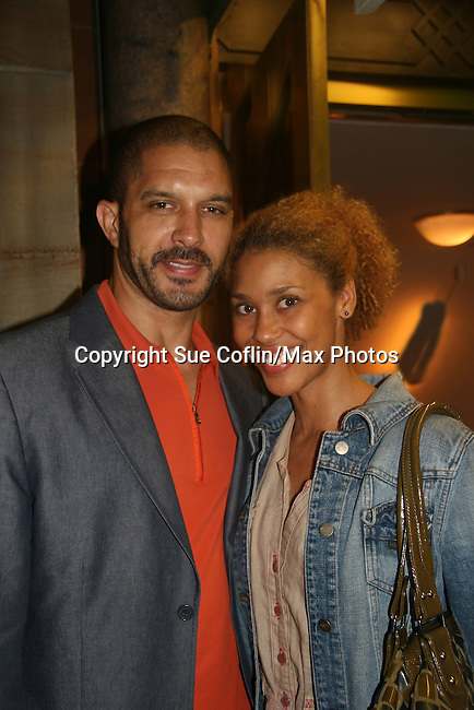 OLTL's Terrell Tilford and wife Victoria Platt came to see the play Ruined at The Manhattan Theatre Club at 131 55th St, New York City, New York. The play runs til September 6, 2009. (Photo by Sue Coflin/Max Photo)