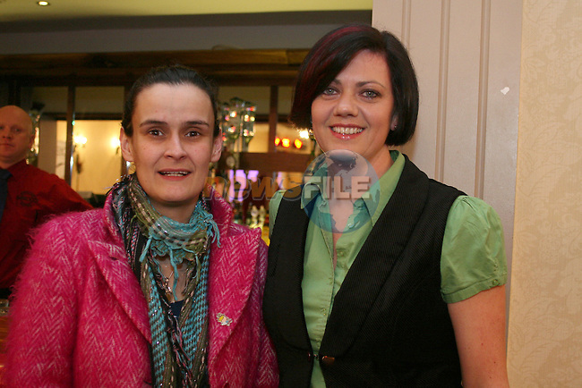Grainne Rafferty and Siobhan Shortt at the Daffodil Day Fashion Show in the Westcourt Hotel...Photo NEWSFILE/Jenny Matthews.(Photo credit should read Jenny Matthews/NEWSFILE)....This Picture has been sent you under the condtions enclosed by:.Newsfile Ltd..The Studio,.Millmount Abbey,.Drogheda,.Co Meath..Ireland..Tel: +353(0)41-9871240.Fax: +353(0)41-9871260.GSM: +353(0)86-2500958.email: pictures@newsfile.ie.www.newsfile.ie.FTP: 193.120.102.198.