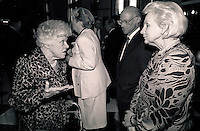Montreal (qc) CANADA - file Photo - 1990 - <br /> <br /> <br /> <br />  Jeanne Sauve, Governor General of Canada L)