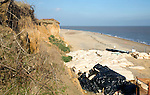 Coastal erosion protection work, Thorpeness, Suffolk, England