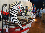 """A view of the rocking Horse sculptures on display at the Saugerties Chamber of Commerce hosted, """"Rockin' Gala and Auction"""" featuring Rocking Horse Statues, held at the SPAF (Saugerties Performing Arts Factory) in Saugerties, NY, on Saturday, September 16, 2017. Photo by Jim Peppler. Copyright/Jim Peppler-2017."""