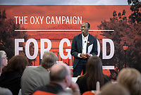 The Oxy Campaign For Good in the Academic Commons, Saturday, June 22.<br /> Guests learn about the College's recently announced comprehensive campaign, The Oxy Campaign For Good, which seeks to raise $225 million for financial aid, transformational classroom experiences, the preservation and enhancement of our beautiful campus, and to build the Oxy Fund.