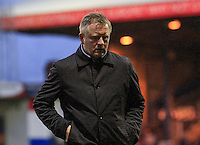 Northampton manager Chris Wilder during the Sky Bet League 2 match between Luton Town and Northampton Town at Kenilworth Road, Luton, England on 12 December 2015. Photo by Liam Smith/Prime Media Images.