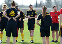 20180303 - LARNACA , CYPRUS :  Belgian Nicky Van Den Abbeele  pictured during a Matchday -2 training from The Belgian Red Flames prior to their game against Austria , on Saturday 3 March 2018 at the Alpha Sports Grounds in Larnaca , Cyprus . This will be the third game in group B for Belgium during the Cyprus Womens Cup , a prestigious women soccer tournament as a preparation on the World Cup 2019 qualification duels. PHOTO SPORTPIX.BE | DAVID CATRY