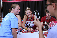 SAN ANTONIO, TX - APRIL 4:  Jayne Appel at an autograph session on April 4, 2010 at the Alamo Dome in San Antonio, Texas.