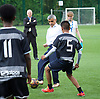 Sadiq Khan, Mayor launches Thrive LDN to challenge mental health stigma and improve care<br /> 4th July 2017<br /> at <br /> The Unity of Faiths Foundation (TUFF) FC football pitches at Stepney Green Park Astroturf, London, Great Britain <br /> <br /> <br />  <br /> The Mayor will visit TUFF FC (The Unity of Faiths Foundation) to launch Thrive LDN. TUFF FC is a football-based education project, designed to support youth integration and improve the mental well-being of young people. By bringing together children of different faiths and backgrounds, TUFF FC aims to combat issues such as drug addiction, extremism, isolation, gang involvement and knife crime early to prevent young people from developing poor mental health.<br /> <br /> <br /> Photograph by Elliott Franks <br /> Image licensed to Elliott Franks Photography Services