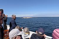 F&auml;hre nach Ertholmene (Erbseninseln), Gudhjem auf der Insel Bornholm, D&auml;nemark, Europa<br /> Ferry to Ertholme, Isle of Bornholm Denmark