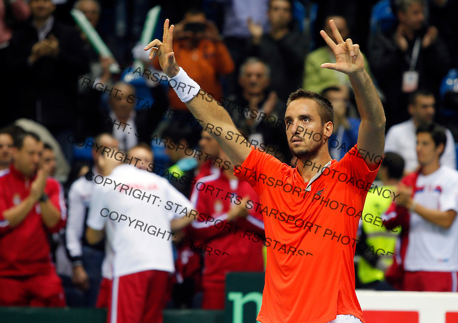 Viktor Troicki Davis Cup, Dejvis Kup, Serbia - Croatia, Tenis, Tennis, Srbija - Hrvatska 6.3.2015, Kraljevo, Srbija March 06.2015.  (credit image & photo: Pedja Milosavljevic / STARSPORT)