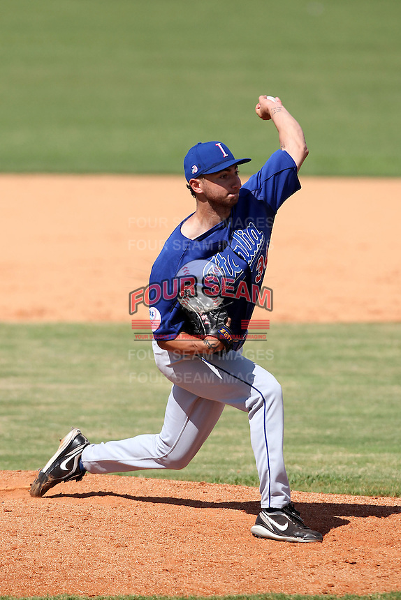 Italy National Team pitcher Luca Panerati #34 during an Instructional League game against the Washington Nationals at Holman Stadium on September 29, 2011 in Vero Beach, Florida.  (Mike Janes/Four Seam Images)