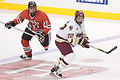 Josh Robertson, Dan Bertram - The Boston College Eagles defeated the Northeastern University Huskies 5-2 in the opening game of the 2006 Beanpot at TD Banknorth Garden in Boston, MA, on February 6, 2006.