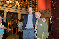 President Jonathan Veitch and theater professor Jamie Angell.<br />