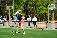 Jennifer Kupcho (USA) on the 10th tee during the second round of the Augusta National Womans Amateur 2019, Champions Retreat, Augusta, Georgia, USA. 04/04/2019.<br /> Picture Fran Caffrey / Golffile.ie<br /> <br /> All photo usage must carry mandatory copyright credit (&copy; Golffile | Fran Caffrey)