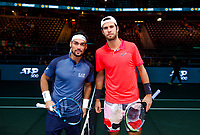 Rotterdam, The Netherlands, 11 Februari 2020, ABNAMRO World Tennis Tournament, Ahoy, <br /> Karen Khachanov (RUS), Fabio Fognini (ITA).<br /> Photo: www.tennisimages.com