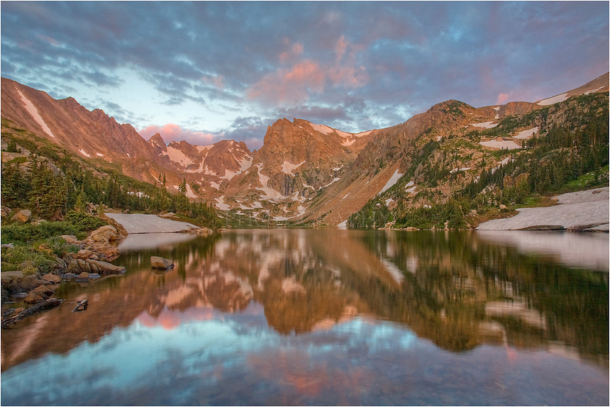The alarm rang when it was still the middle of the night. I arose, drove the few hours to the trailhead for Lake Isabelle, made the trek in the dark, and arrived a little before a beautiful sunrise. Images of Colorado such as this take a little work because you can't just roll out of bed and take in the landscape. Still, the effort is worth it on mornings such as this.