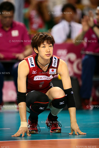 Miyu Nagaoka (JPN), <br /> AUGUST 23, 2014 - Volleyball : <br /> FIVB World Grand Prix 2014 final round match <br /> between Japan 3-0 Belgium <br /> at  Ariake Coliseum, Tokyo, Japan. <br /> (Photo by AFLO SPORT) [1205]