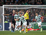 Beram Kayal scores the second goal for Celtic and celebrates