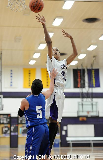 Pioneer High School junior varsity boy's basketball in action against Adrian High School, Wednesday, February 12, 2014, at Pioneer High School.