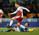 Paul Paton stops the run of Barrie McKay