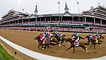 LOUISVILLE, KY - MAY 04: Monomoy Girl #14, ridden by jockey Florent Geroux, out duels Wonder Gadot #5, ridden by jockey John Velasquez, to win the Longines Kentucky Oaks at Churchill Downs on May 4, 2018 in Louisville, Kentucky. (Photo by Scott Serio/Eclipse Sportswire/Getty Images)