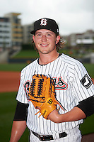 Birmingham Barons pitcher Carson Fulmer (15) poses for a photo before a game against the Pensacola Blue Wahoos on May 2, 2016 at Regions Field in Birmingham, Alabama.  Pensacola defeated Birmingham 6-3.  (Mike Janes/Four Seam Images)