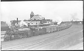 D&amp;RGW Mountain #1700 with passenger train passing through Pueblo.<br /> D&amp;RGW  Pueblo, CO  Taken by Perry, Otto C.