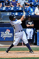 Staten Island Yankees DH Shane Brown #14 during a game against the State College Spikes at Richmond County Bank Ballpark at St. George on July 14, 2011 in Staten Island, NY.  Staten Island defeated State College 6-4.  Tomasso DeRosa/Four Seam Images