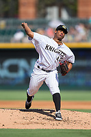 Charlotte Knights starting pitcher Reynaldo Lopez (40) in action against the Gwinnett Braves at BB&T BallPark on July 16, 2017 in Charlotte, North Carolina.  The Knights defeated the Braves 5-4.  (Brian Westerholt/Four Seam Images)