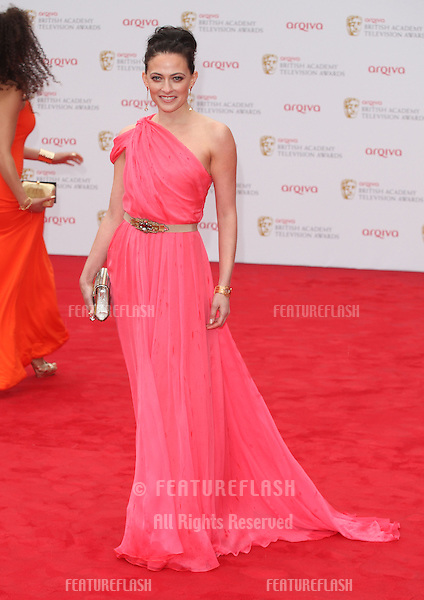 Lara Pulver arriving for the TV BAFTA Awards 2013, Royal Festival Hall, London. 12/05/2013 Picture by: Alexandra Glen / Featureflash