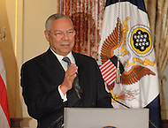 October 27, 2011  (Washington, DC)  Former Secretary of State Colin Powell speaks at the 50th Anniversary Celebration of the Diplomatic Rooms at the State Department in Washington.  (Photo by Don Baxter/Media Images International)