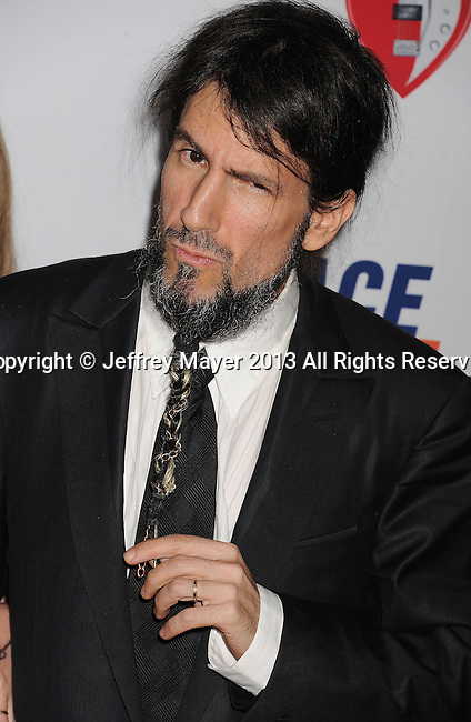 CENTURY CITY, CA- MAY 03:  Musician Ron 'Bumblefoot' Thal of Guns N' Roses arrives at the 20th Annual Race To Erase MS Gala 'Love To Erase MS' at the Hyatt Regency Century Plaza on May 3, 2013 in Century City, California.