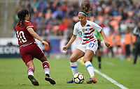 Houston, TX - Sunday April 8, 2018: Stephany Mayor, Tegan McGrady during an International friendly match versus the women's National teams of the United States (USA) and Mexico (MEX) at BBVA Compass Stadium.