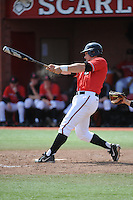 Rutgers University Scarlet Knights infielder John Jennings (2) during a game against the University of Cincinnati Bearcats at Bainton Field on April 19, 2014 in Piscataway, New Jersey. Rutgers defeated Cincinnati 4-1.  (Tomasso DeRosa/ Four Seam Images)
