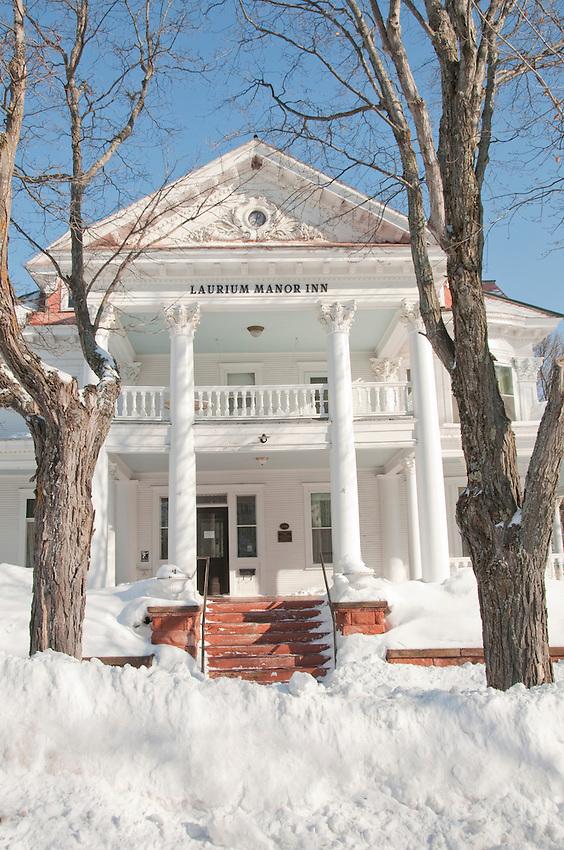 Exterior of the Laurium Manor Inn in Laurium Michigan.