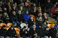 Blackpool fans watch their team in action <br /> <br /> Photographer Kevin Barnes/CameraSport<br /> <br /> Emirates FA Cup Third Round Replay - Blackpool v Reading - Tuesday 14th January 2020 - Bloomfield Road - Blackpool<br />  <br /> World Copyright © 2020 CameraSport. All rights reserved. 43 Linden Ave. Countesthorpe. Leicester. England. LE8 5PG - Tel: +44 (0) 116 277 4147 - admin@camerasport.com - www.camerasport.com