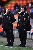 Blackpool manager Gary Bowyer looks on with Coach Andy Todd<br /> <br /> Photographer Richard Martin-Roberts/CameraSport<br /> <br /> The EFL Sky Bet League One - Blackpool v Walsall - Saturday 10th February 2018 - Bloomfield Road - Blackpool<br /> <br /> World Copyright &not;&copy; 2018 CameraSport. All rights reserved. 43 Linden Ave. Countesthorpe. Leicester. England. LE8 5PG - Tel: +44 (0) 116 277 4147 - admin@camerasport.com - www.camerasport.com