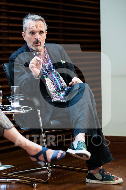 Singer Miguel Bose during the presentation of the 7th edition of Gala Sida for his first time in Madrid. June 21, 2016. (ALTERPHOTOS/BorjaB.Hojas)