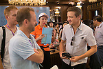 Jeremy Renner (right) at the China Film Makers Forum on the sidelines of the World Celebrity Pro-Am 2016 Mission Hills China Golf Tournament on 21 October 2016, in Haikou, China. Photo by Marcio Machado / Power Sport Images