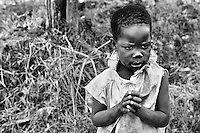After losing her parents to AIDS, a girl has to live with only her siblings in Kumi, Uganda on April 11, 2001.  More than 13 million African children who have been orphaned by the the AIDS pandemic. Worldwide, more than 20 million people have died since the first cases of AIDS were identified in 1981.