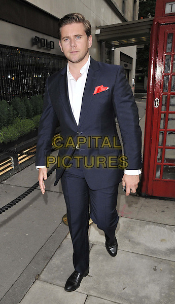 LONDON, ENGLAND - MAY 29: Allen Leech attends the Lamborghini TL 66 new mobile launch party, No. 41, Conduit St., on Thursday May 29, 2014 in London, England, UK.<br /> CAP/CAN<br /> &copy;Can Nguyen/Capital Pictures
