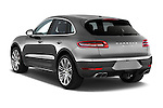 Car pictures of rear three quarter view of a 2015 Porsche Macan Turbo 5 Door SUV angular rear