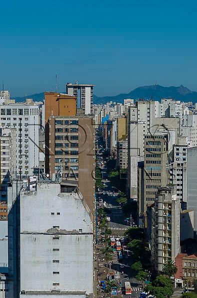 Avenida São João, a partir do Edifício Martinelli, São Paulo - SP, 01/2014.