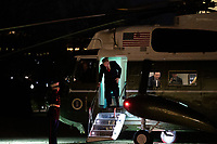 United States President Donald J. Trump arrives at the White House aboard Marine One on Thursday, January 9th, 2020 in Washington, D.C. Trump returns to the White House after hosting a campaign rally in Toledo, Ohio.  <br /> Credit: Alex Edelman / Pool via CNP/AdMedia