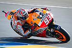 The rider Marc Marquez during the MotoGP race of Le Mans in France. 05/18/2014. Samuel de Roman/Photocall3000